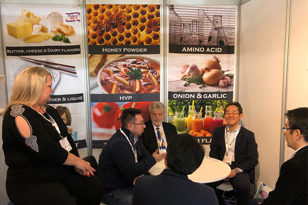 Flavor Consultants, Inc. from Las Vegas, Nev. meeting with customers at the International Baking Ingredients Expo in Las Vegas, NV, 2019.