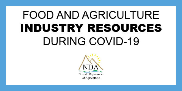 Food and Agriculture industry resources during COVID-19