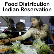 Food Distribution Indian Reservation